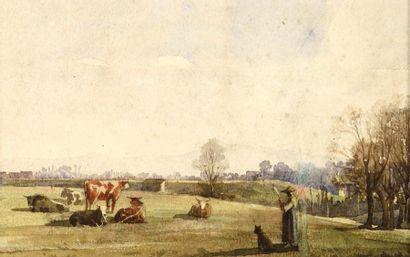 Maurice DAINVILLE (1856-1943) La roulotte...