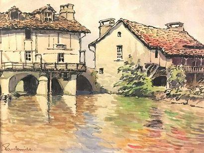 Paul Émile PISSARRO (1884-1972) Village dans...