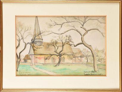 Paul Émile PISSARRO (1884-1972) Eglise de...