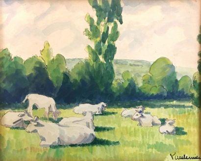 Paul Émile PISSARRO (1884-1972) Vaches dans...