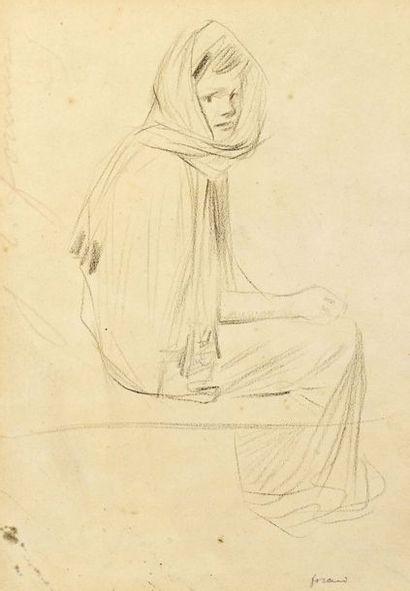 Jean-Louis FORAIN (1852-1931) Etude de femme...