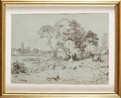 Eugène CLARY (1856-1929) Paysage de forêt...