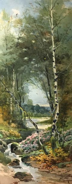 Hippolyte Jean Adam GIDE (1852-1921) Ruisseau...