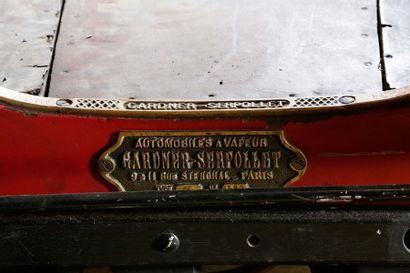 1902 Gardner Serpollet Type F Type F  Numéro de série 364  Carte grise de collection...