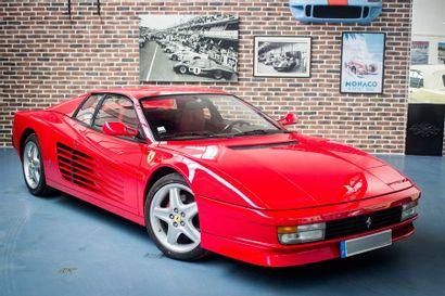 1989 FERRARI TESTAROSSA Très belle présentation  Livrée rouge sur rouge originale...