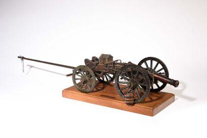 Maquette de canon Gribeauval à l'échelle...