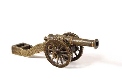 Maquette d'artillerie. Canon rond à bourrelet...