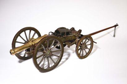 Maquette d'artillerie système Gribeauval....