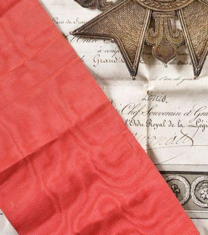 FRANCE ORDRE DE LA LEGION D'HONNEUR, institué en 1802. Deux écharpes de grand croix...
