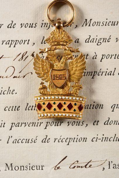 ROYAUME D'ITALIE – Empire D'AUTRICHE. ORDRE IMPERIAL DE LA COURONNE DE FER, modifié...