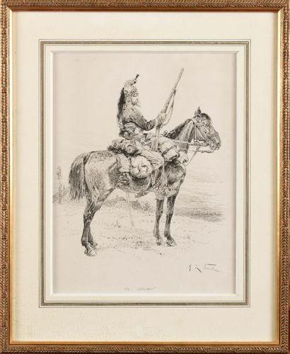 Alphonse de NEUVILLE, d'après «Une vedette»...