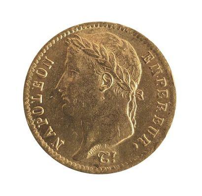 PIECE en or jaune de 20 Francs République...