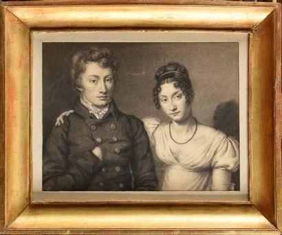 Ecole Française du début du XIXe siècle «Portraits...