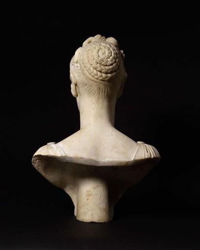 Jean-Baptiste COMOLLI, attribué à «Buste de la Princesse Elisa, Grande duchesse...