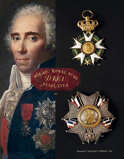 FRANCE ORDRE DE LA LEGION D'HONNEUR, institué en 1802. Bijou de grand-croix d'époque...