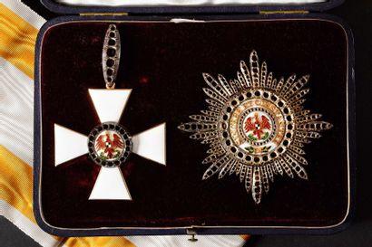 PRUSSE ORDRE DE L'AIGLE ROUGE, créé en 1777.  Ensemble de 1ère classe, modèle...