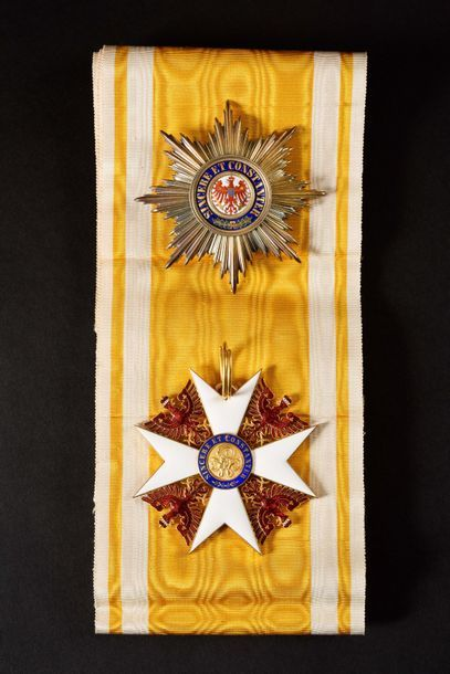 PRUSSE ORDRE DE L'AIGLE ROUGE, créé en 1777. Ensemble de grand-croix (classe créée...