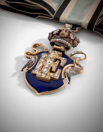 Rare et superbe bijou de Dame de la Maison de l'Impératrice Eugénie, ayant appartenu...