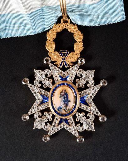 ESPAGNE ORDRE DE CHARLES III, créé en 1771. Ensemble de commandeur du nombre, modèle...