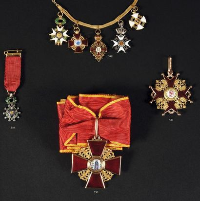 RUSSIE IMPERIALE ORDRE DE SAINTE ANNE Croix...