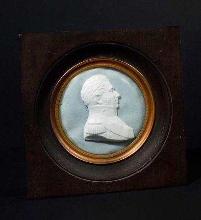 « Le duc de Berry ». Portrait en buste de...