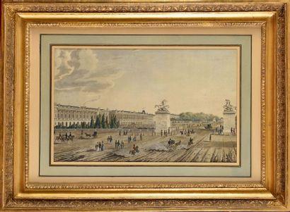 Ecole française du XIXe siècle. « La place...