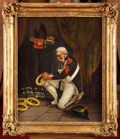 Ecole française du XIXe siècle. « Le vétéran...
