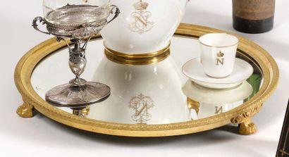 Surtout de table en bronze doré et ciselé...