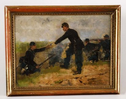 Edouard DETAILLE (1848-1912) « Dans la tranchée,...