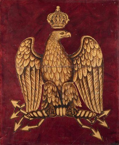 Aigle impérial couronné aux foudres Huile...