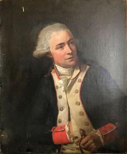 Ecole Française du XVIIIe Portrait d'officier...