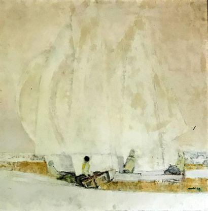 PAUL AMBILLE (1930-2010) Les voiles blanches...