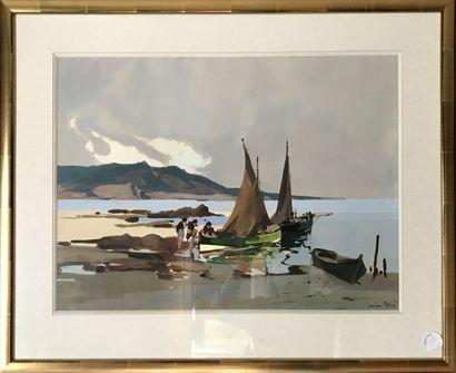 LUCIEN PERI (1880-1948) Bord de fleuve et...