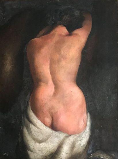 GUSTAVE ASTOY (XXe) Femme nue Huile sur toile...
