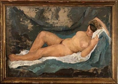 PIERO PORACCIA (1893-1965) La femme nue allongée...