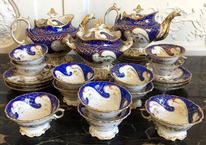 PARIS Service à thé et café en porcelaine...