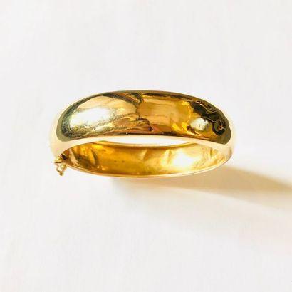 BRACELET JONC en or jaune 750 millièmes (légers...