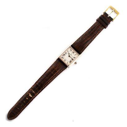 """RICHARDS-ZEGER vers 1980  Belle montre bracelet de type """" Tank"""" en argent (925 millièmes)...."""