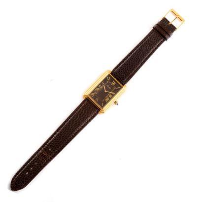 CARTIER vers 1980  Montre bracelet d'homme...