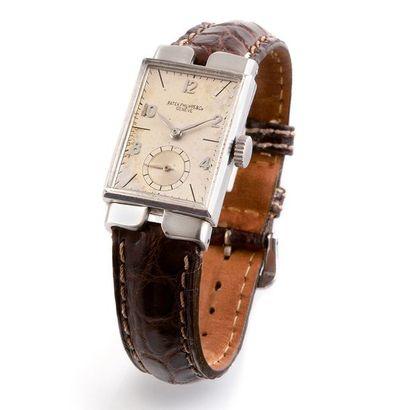 Patek Philippe and Co, Genève Ref. 1544 vers 1953  Montre bracelet rectangulaireen...