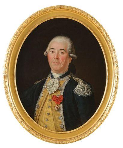 Ecole française du XVIII e siècle. « Portrait...