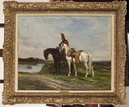 James Alexander WALKER (1831-1898) «Hussard...