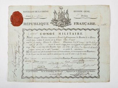 BACHASSON de MONTA LIVET (1766-1823) Certificat...