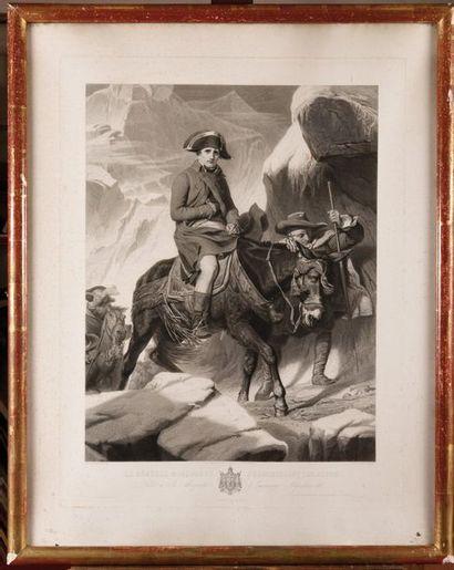 DELAROCHE , d'après. « Bonaparte franchissant...