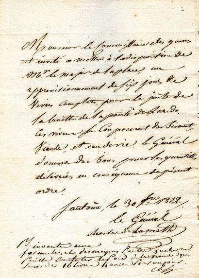 [MANUSCRIT ] LAMETH (Charles-Malo-François...