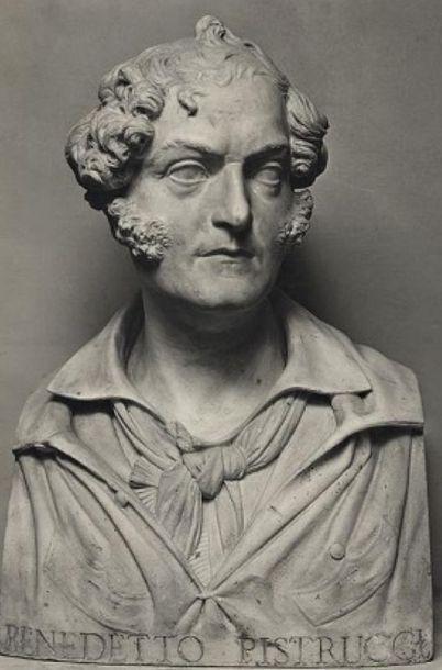 Benedetto Pistrucci (1783-1855) Ecole italienne. « Bacchante de profil » Grand camée...