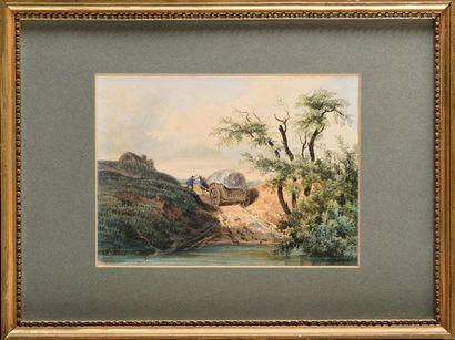 Charles Nicolas RANSONNETTE (1793-1877) Paysage...