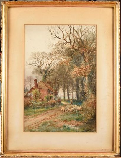 Henry Charles FOX (1855/60-1929) Chaumière...