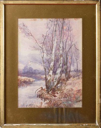 Frederic EDE (1865-1943) Environs de Montigny...
