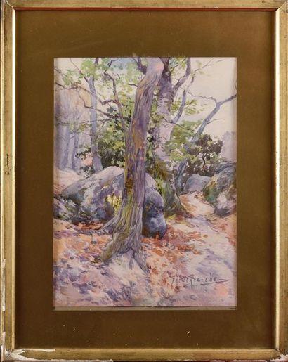 Frederic EDE (1865-1943) Forêt de Fontainebleau...